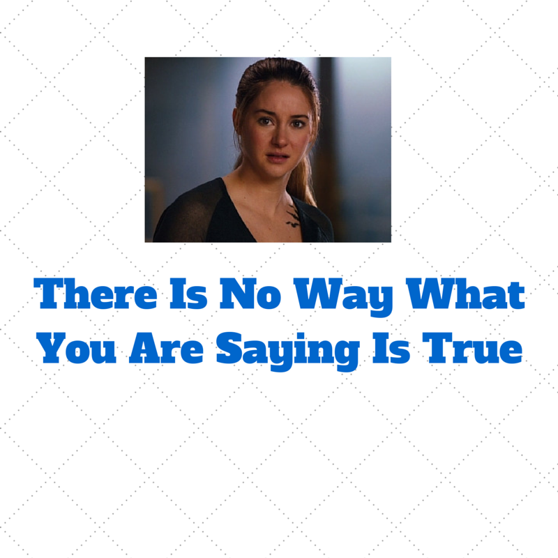 There Is No Way What You Are Saying Is True