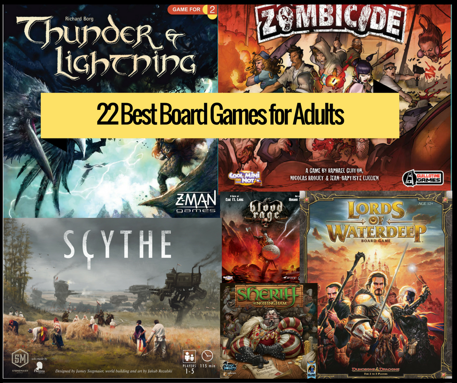 23 Best Board Games For Adults 2018
