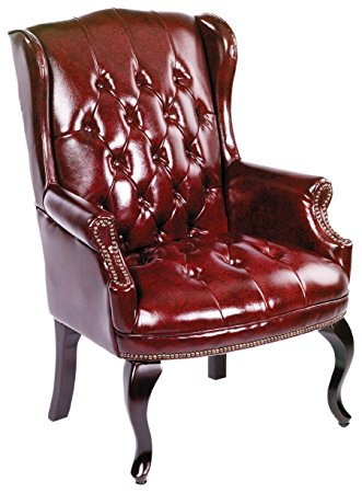 Boss Office Wingback Leather Reading Chair